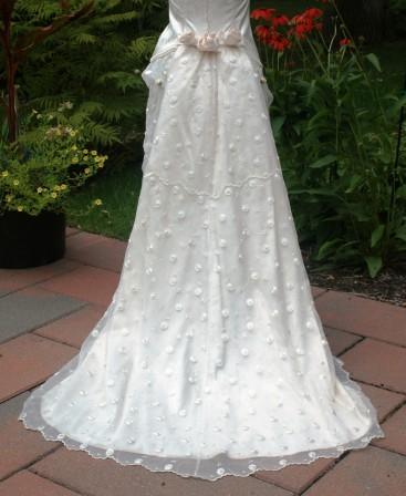 Traîne de robe de mariée