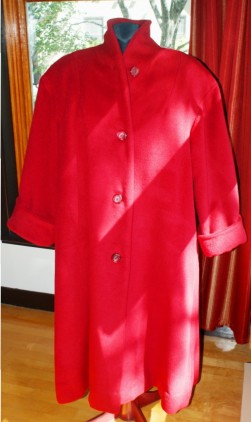Manteau en mélange laine et alpaga