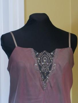 Robe en mousseline - détail du corsage