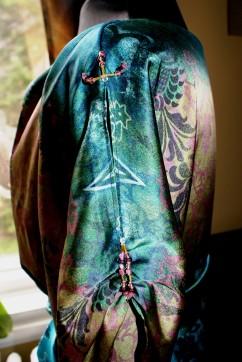 Robe de soie - détail