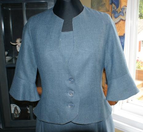 Veston en lainage fin
