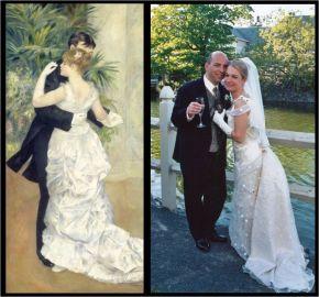 Inspiration tableau de Renoir pour une robe de mariée toute romantique